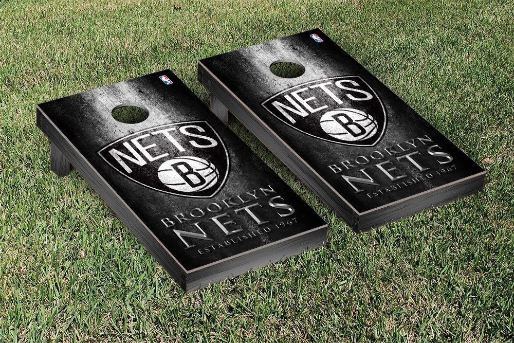 Brooklyn BKN Nets NBA Basketball Regulation Cornhole Game Set Museum Version