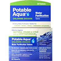 Deals on Potable Aqua Chlorine Dioxide Water Purification Tablets 20 Ct