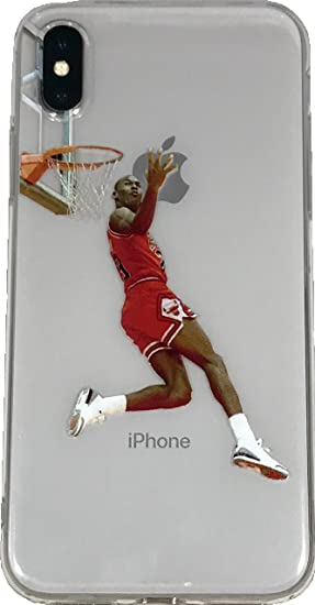 ceb17a164203f Soft TPU Basketball Case with Your Favorite Past and Present Players  (Jordan Reverse Dunk, iPhone 7 Plus)