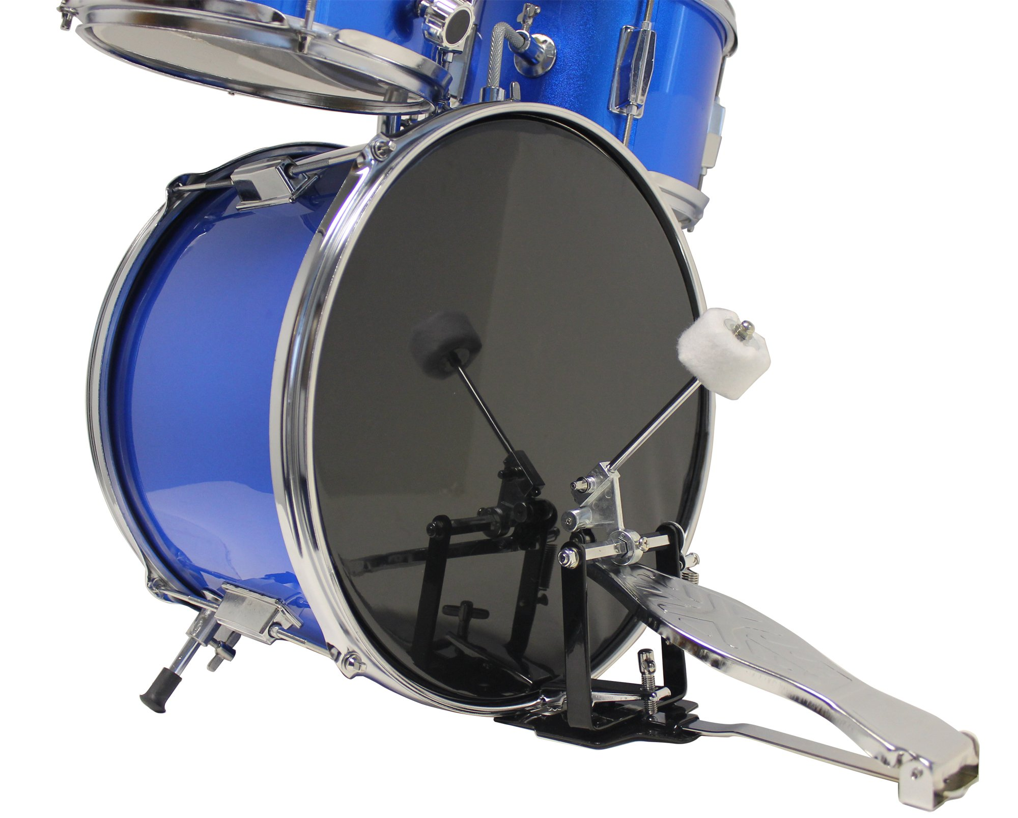 Music Alley Kids 3 Piece Beginners Drum Kit, Blue, inch (DBJK02) by Music Alley (Image #3)
