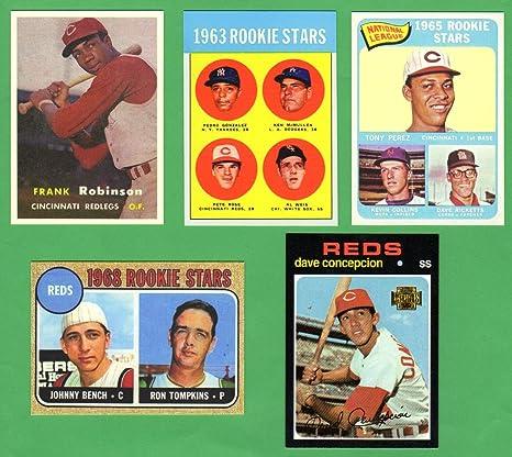 Cincinnati Reds 5 Card Topps Rookie Reprint Lot 1 Frank