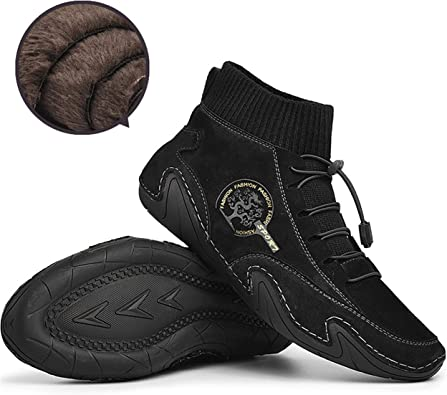 Qiucdzi Mens Slip On Ankle Boots Casual