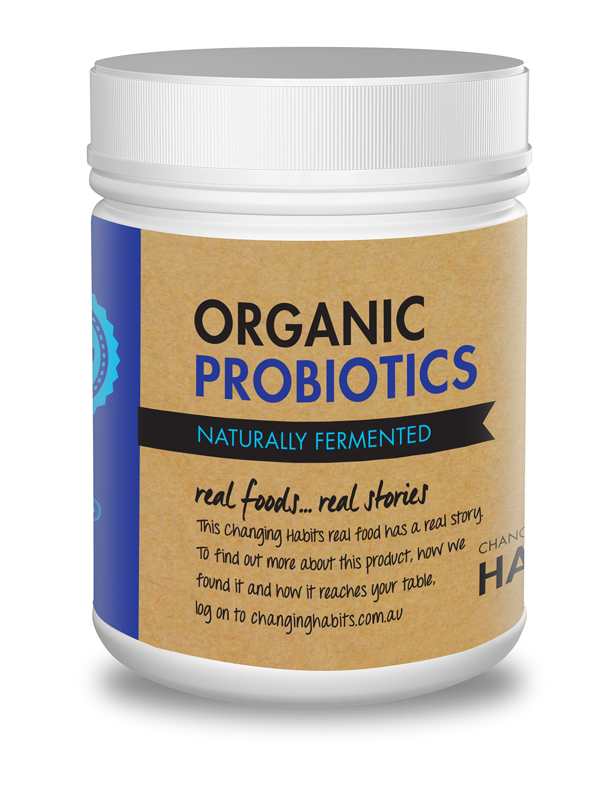Organic Probiotic Powder With Prebiotic Fiber. 60+ Servings! Soothing, Great Tasting Wholefood Vegan Probiotics and Prebiotics For Women, Men and Kids by Changing Habits (Image #1)