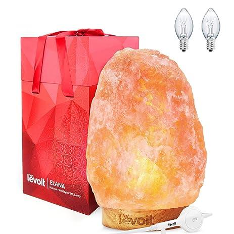 Amazon.com: Levoit Elana Himalayan Salt Lamp, Natural Himilian ...