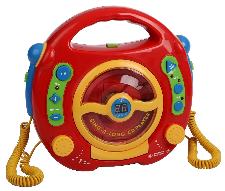 Kinder CD Player Digital Karaoke Mit 2 Mikrophone: Amazon.de: Spielzeug
