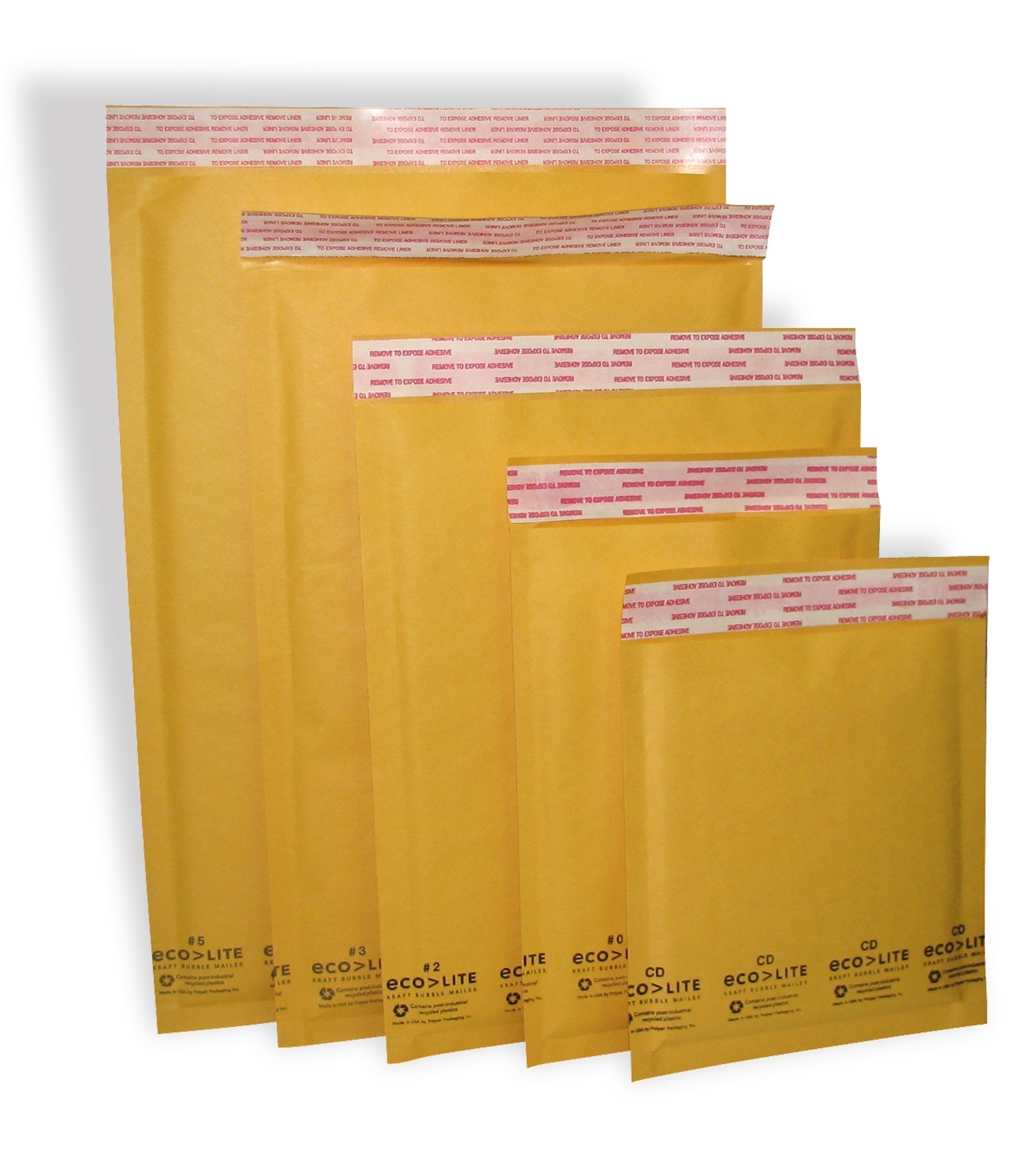 Polyair Eco-lite #4 ELSS4 Golden Kraft Bubble Mailer, 9.5'' x 14.5'' (Pack of 100)