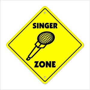 Singer Zone Sign música artista compositor plomo regalo: Amazon.es ...