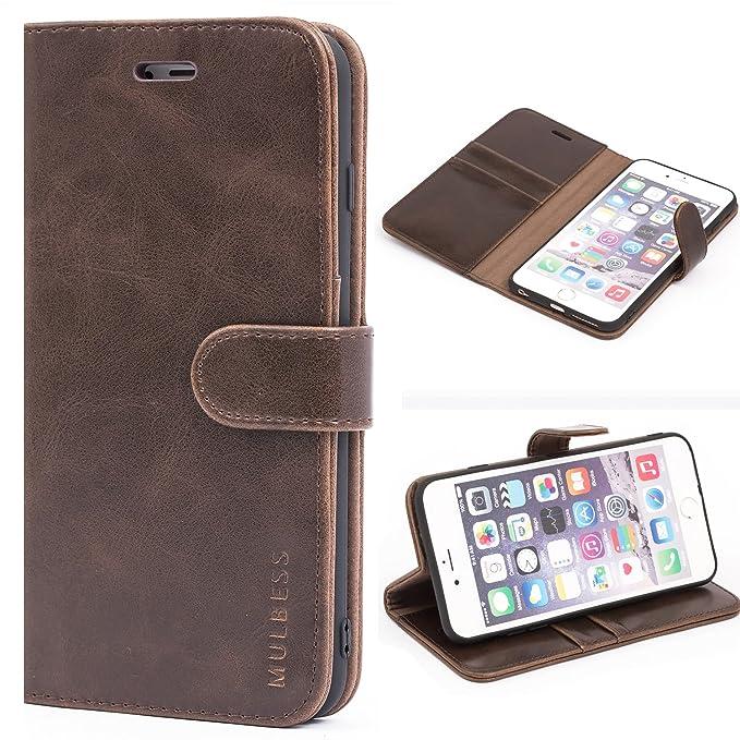 Mulbess Ledertasche im Ständer Book Case / Kartenfach für Apple iPhone 6 / 6S Plus (5,5 Zoll) Tasche Hülle Leder Etui,Vintage