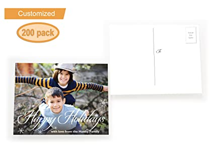 Amazon buttonsmith custom personalized a2 postcard holiday buttonsmith custom personalized a2 postcard holiday greeting cards happy holidays m4hsunfo
