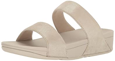99732f99efb FitFlop Women s Shimmy Suede Slide Sandal Pale Gold 6 ...