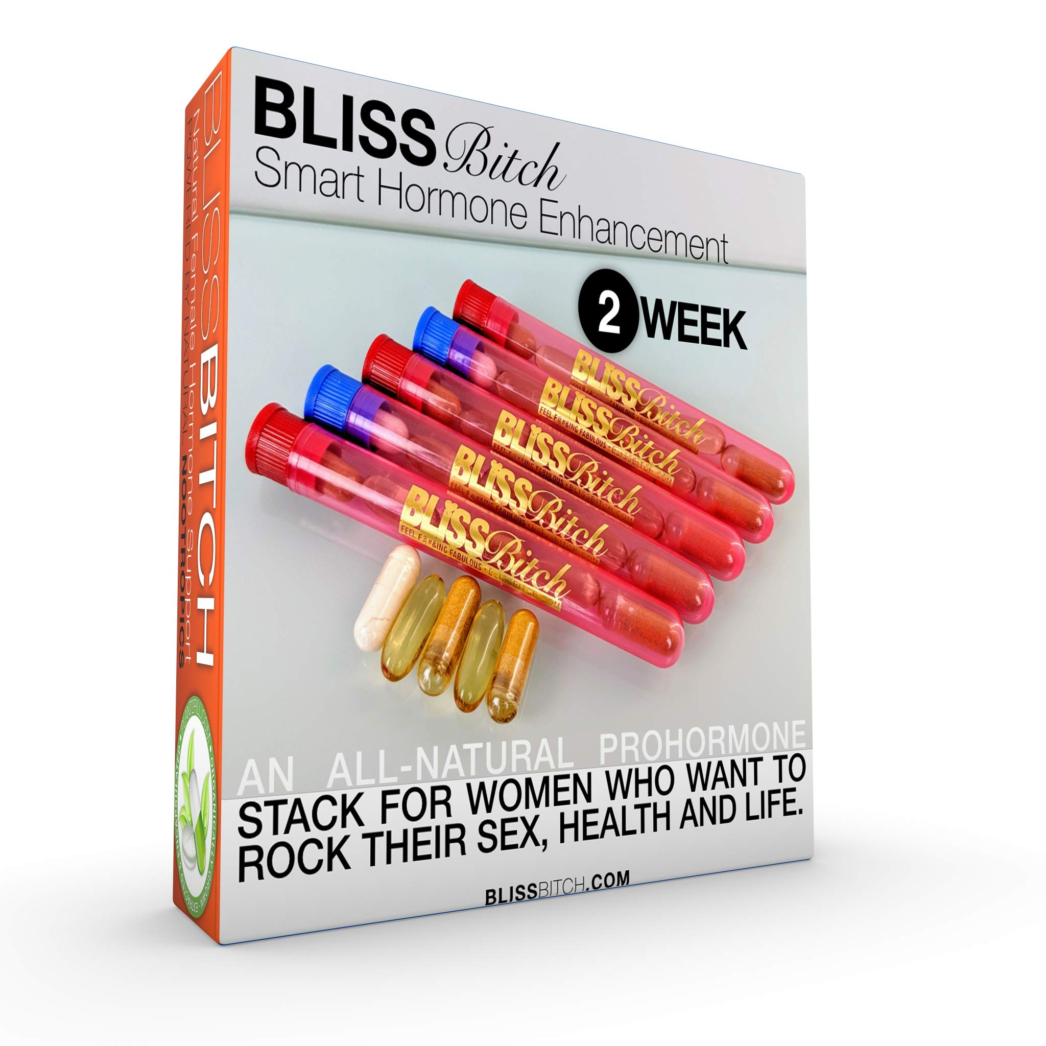 BlissBitch Restoramones - Female Pre-hormones - Fast, Natural Solution For Hot Flashes, Wrinkles, Mood Swings, and Other Issues with Menopause and Menses - The Safe Alternative to BioIdentical Hormone by Restoramones by BlissBitch