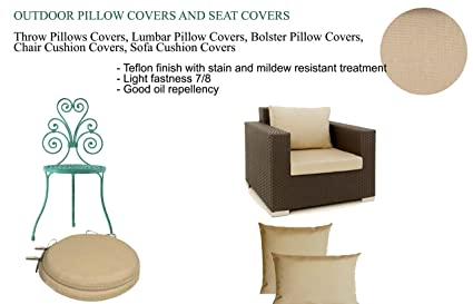 Amore Beaute Outdoor Pillows, Beige Chair Pillow, Outdoor Chair Cushion, Outdoor  Pillows,
