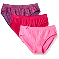 Balanced Tech Women's 3 Pack Classic Seamless Hipster Brief Bikini Panties