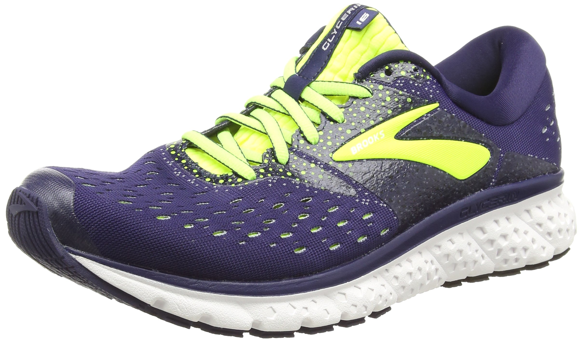 7f4bc37d45f37 Galleon - Brooks Mens Glycerin 16 - Navy Nightlife Grey - D - 8.5