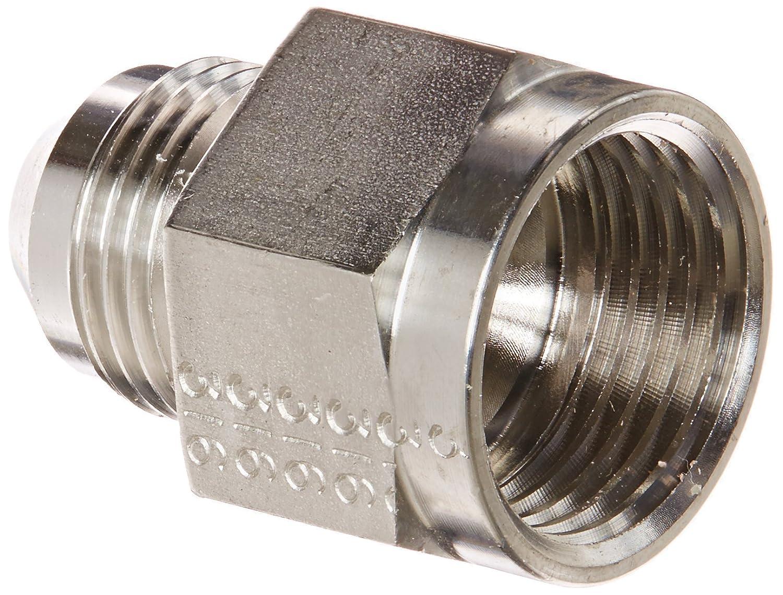 1//2 JIC Male x 5//8 JIC Female Adapter JIC Eaton Weatherhead 5027X10X8 Stainless Steel SAE 37 Degree Flare-Twin Fitting