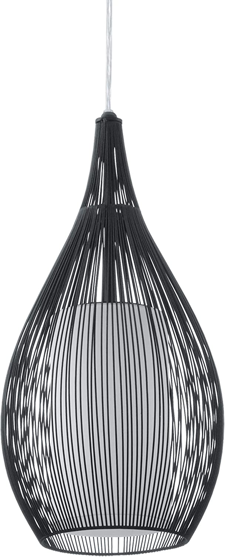 Glas: satiniert Farbe: schwarz EGLO Pendellampe Razoni Marerial: Stahl Fassung: E27 H/ängeleuchte 1-flammig Pendelleuchte