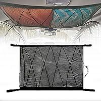 Roccar Large Ceiling Cargo Net Pocket, Car Roof Long Trip Storage Bag with Zipper, Adjustable Automotive Sundries…