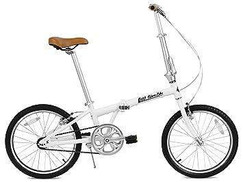 FabricBike Folding Bicicleta Plegable Cuadro Aluminio 3 Colores (Matte White & Black)