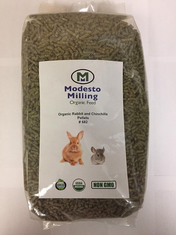 Modesto Milling Organic, Non GMO Rabbit & Chinchilla Pellets,10 lbs; Item# 682