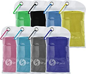 U-pick 8 Packs Cooling Towel for Neck,Ice Towel,Microfiber Towel,Soft Breathable Chilly Towel Stay Cool for Yoga,Sport, Gym,Workout,Camping,Fitness,Running,Workout & More Activities