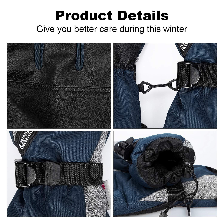 coskefy Guanti Invernali Guanti Sci Impermeabili da Uomo e Donna Guanti Neve Termico Antivento Sottoguanti Sci Termici con 3M Thinsulate Isolation Ski Gloves