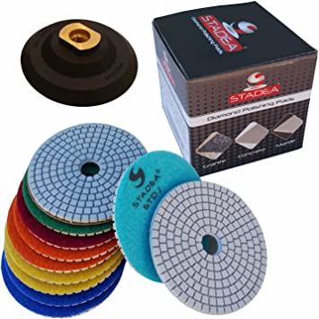 Wet Dry Diamond Polishing Pad 5 Inch For Granite Concrete Marble Polish abrasive