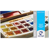 Van Gogh Watercolor Paint Set, Plastic Pocketbox, 24-Half Pan General Selection