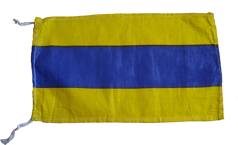 Brass Blessing Maritime Signal Flag - 100% Cotton – Nautical/Marine/Boat/Yacht/Beach Party - Marine Code:
