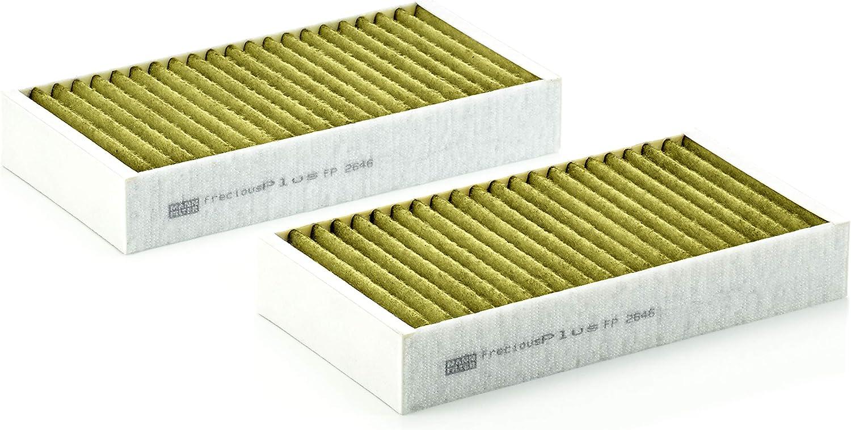 Original Mann Filter Innenraumfilter Fp 2646 2 Freciousplus Biofunktionaler Pollenfilter 2er Set Für Pkw Auto