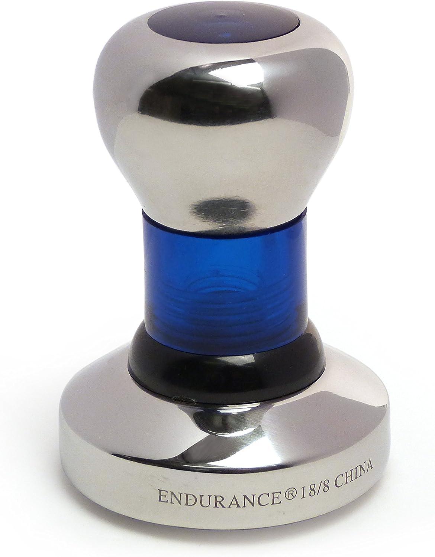 RSVP Endurance Stainless Steel 58 mm Espresso Tamper, Blue