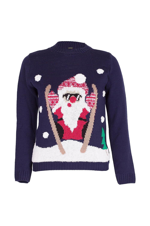 NOROZE Boys Girls Unisex Christmas 3D Jumper Kids Xmas Pullover Santa Snowman Reindeer Penguin