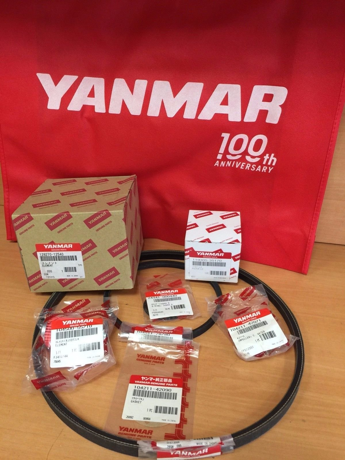 Yanmar 2GM20 3GM30 Maintenance Minor Kit 128270-12540 24341-000440 104211-42071 128670-77350 104211-42090 104511-78780 by Yanmar