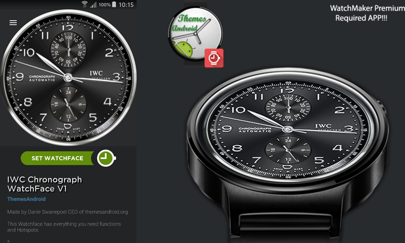 Amazon Com Iwc Chronograph Watch Face Android Wear