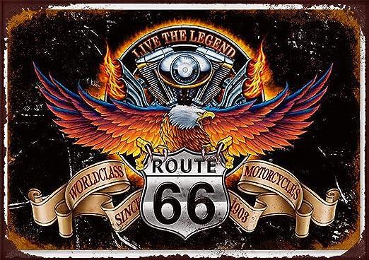 Cartel de metal, 25,4 x 20,32 cm, diseño de Harley Davidson ...