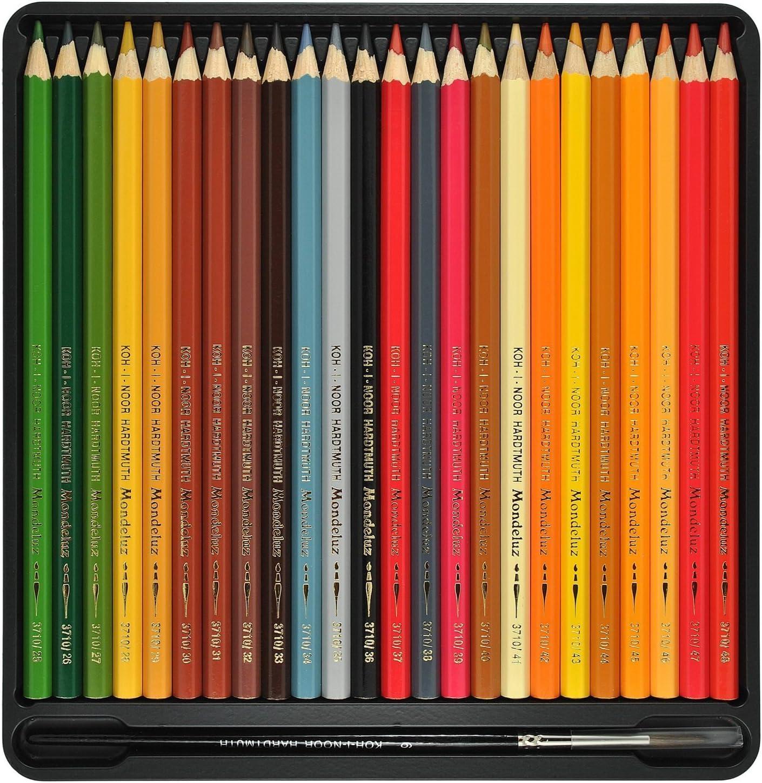 72 Colored Pencils. Koh-i-noor Mondeluz Aquarell Drawing Set