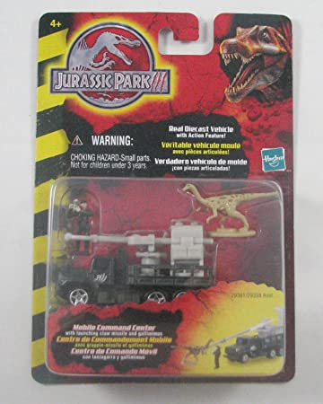 Jurassic Park III Mobile Command Center with Launching Claw Missle and Gallimimus