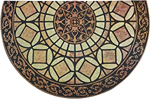CHICHIC Entrance Door Mat Entry Way Doormat Front Door Rug Outdoor Heavy Duty Welcome Mat Non Slip Rubber Back Low Profile for Garage, Patio, High Traffic Area, Large 24 x 36 Inch (Semicircle Style B)
