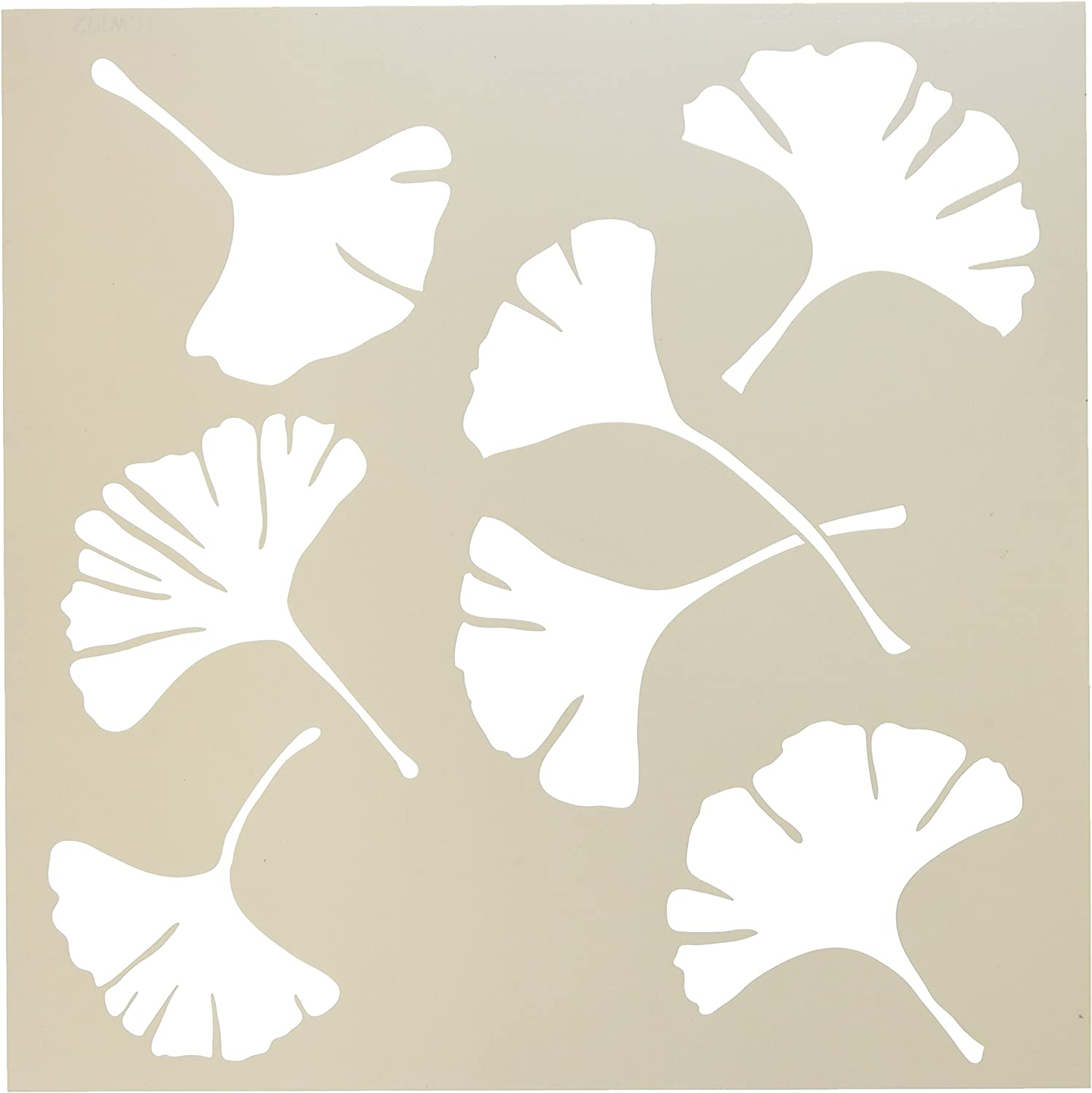 """CRAFTERS WORKSHOP TCW192 Templates 12""""X12""""-Ginko Leaves"""