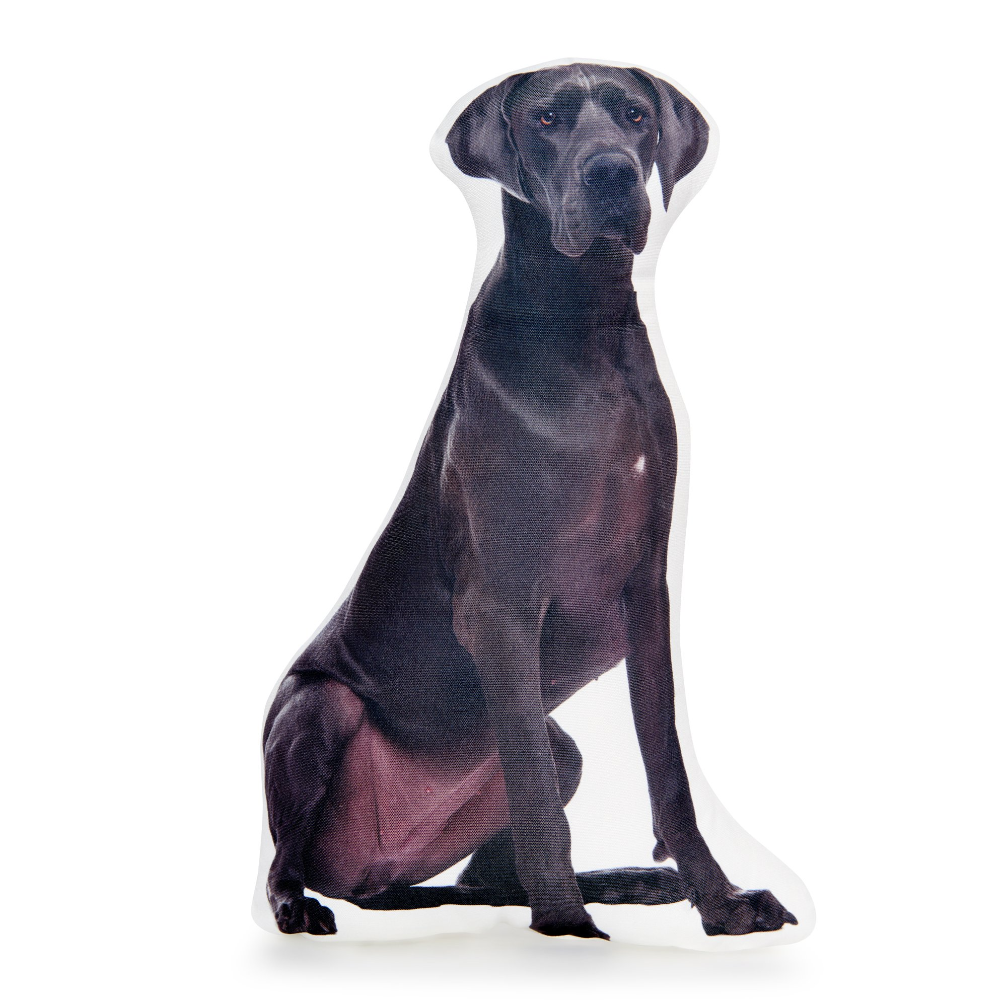 Cushion Co Great Dane Huggable and Lovable Easy to Clean Dog Shaped Pillows Measures 16'' x 12''