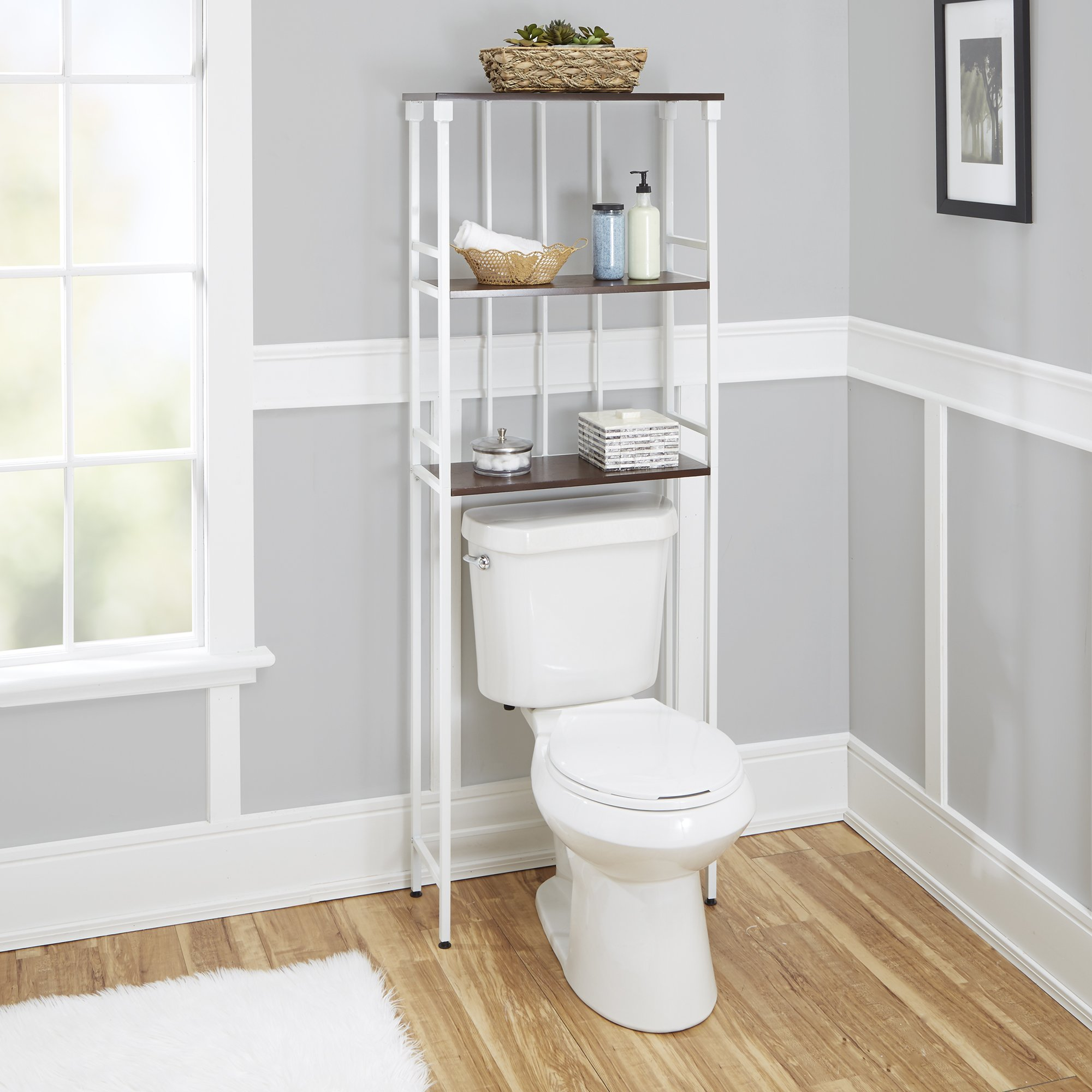 Silverwood Mixed Material Bathroom Collection 3-Tier Spacesaver 3, 66'' H, White by Silverwood (Image #2)