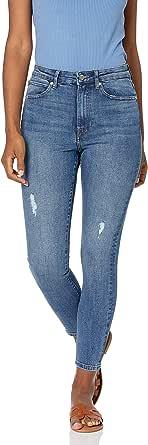 Marca Amazon - Fairfax Pantalón vaquero pitillo de talle alto para Mujer por The Drop