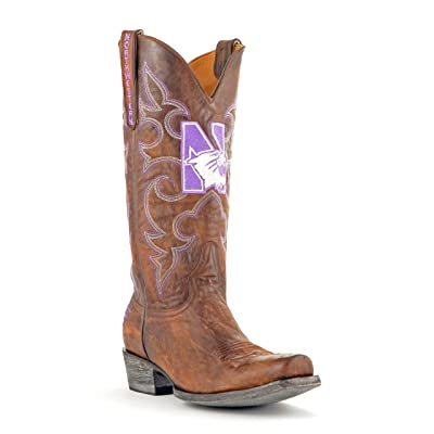 NCAA Northwestern Wildcats Men's Board Room Style Boots: Sports & Outdoors
