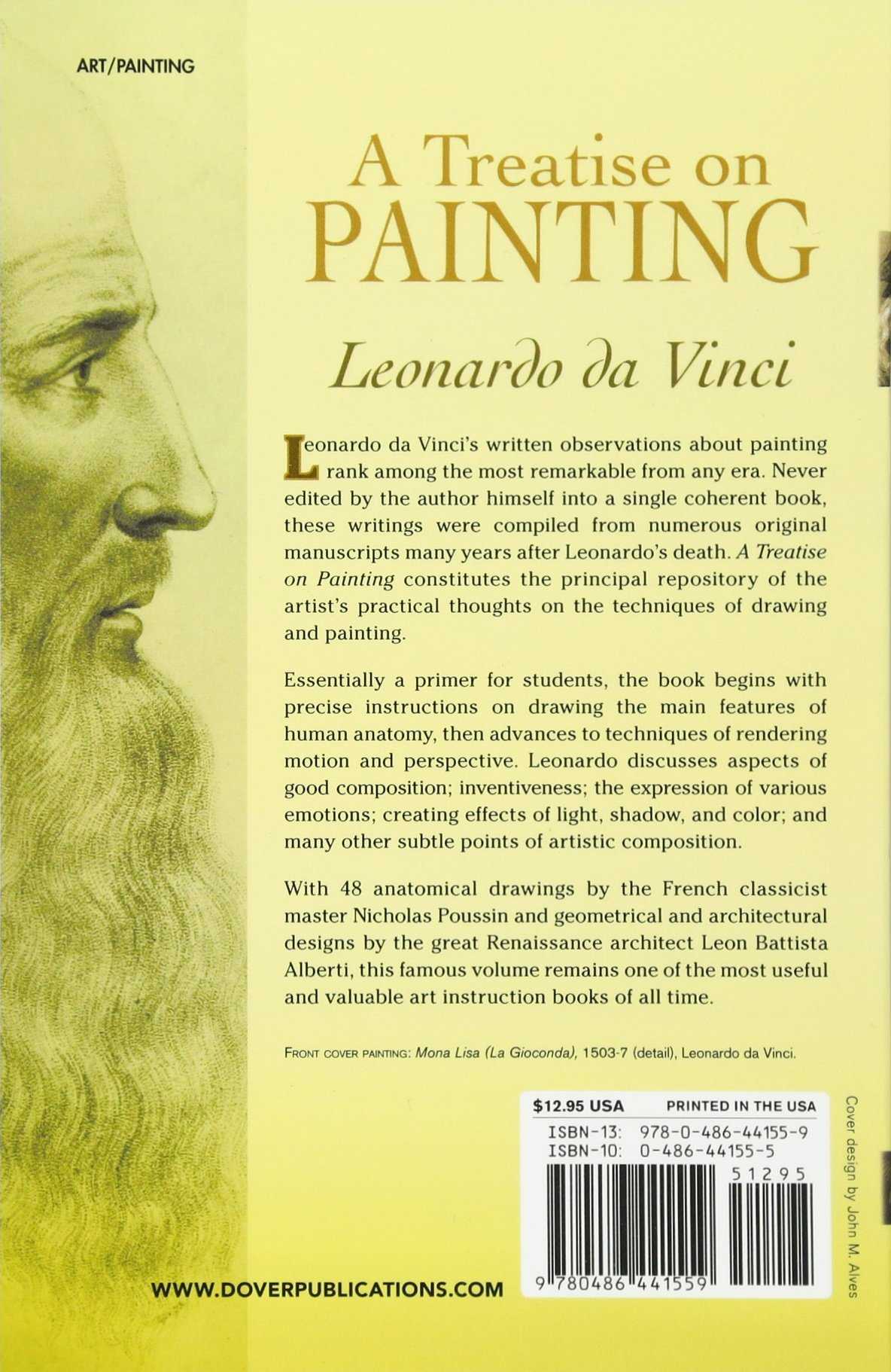 buy a treatise on painting dover fine art history of art book