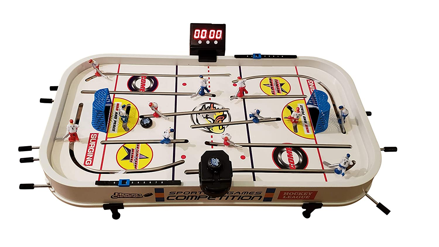 Amazon Com Mancave Games 20 Electronic Rod Hockey Game Fast Paced