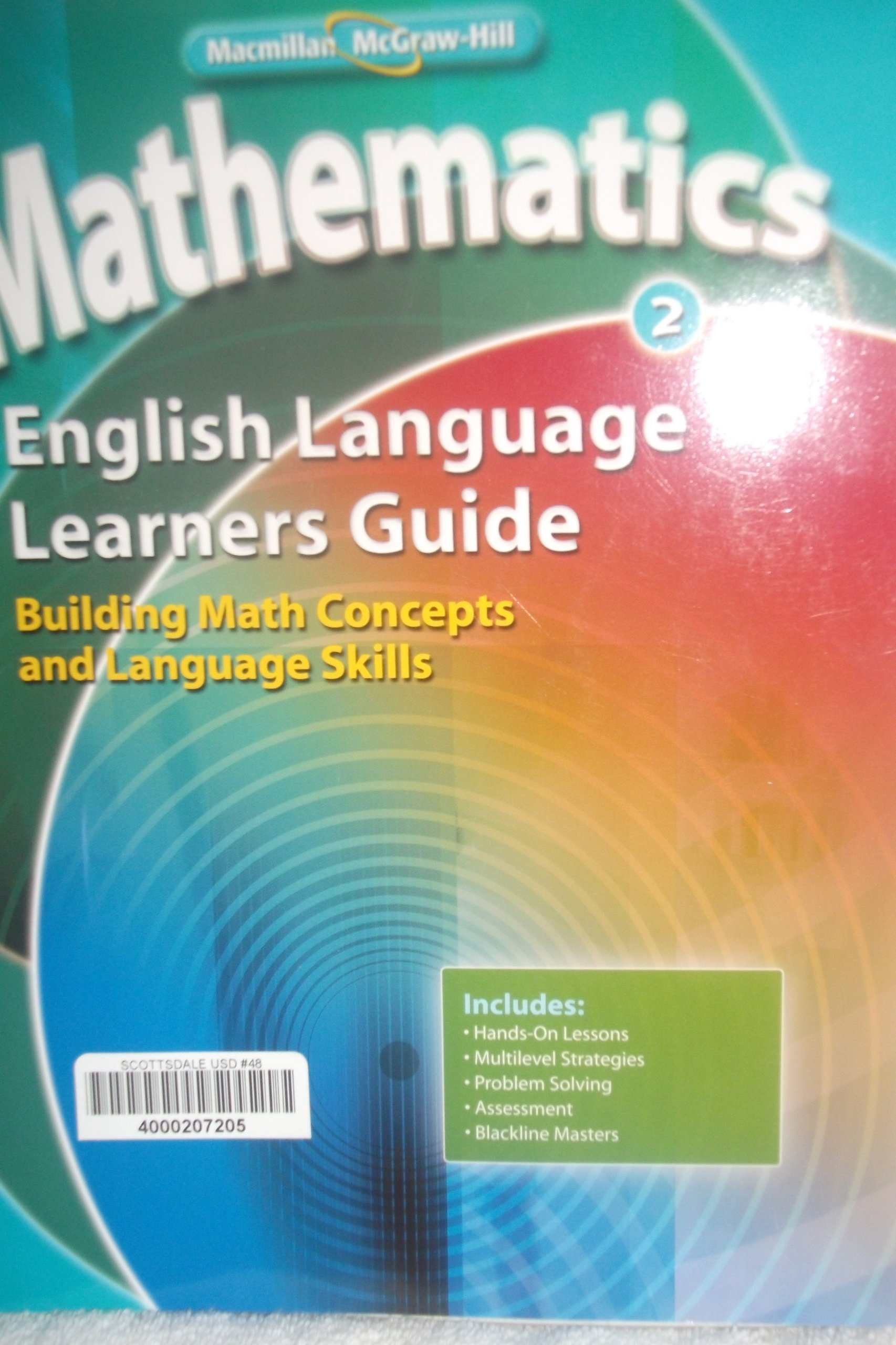 Read Online Mathematics 2 English Language Learners Guide Building Math Concepts and Language Skills (Math Connects) ebook