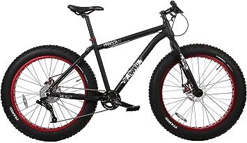 Framed Enmarcado Minnesota 1,2 grasa bicicleta, 15in, Negro/Rojo ...
