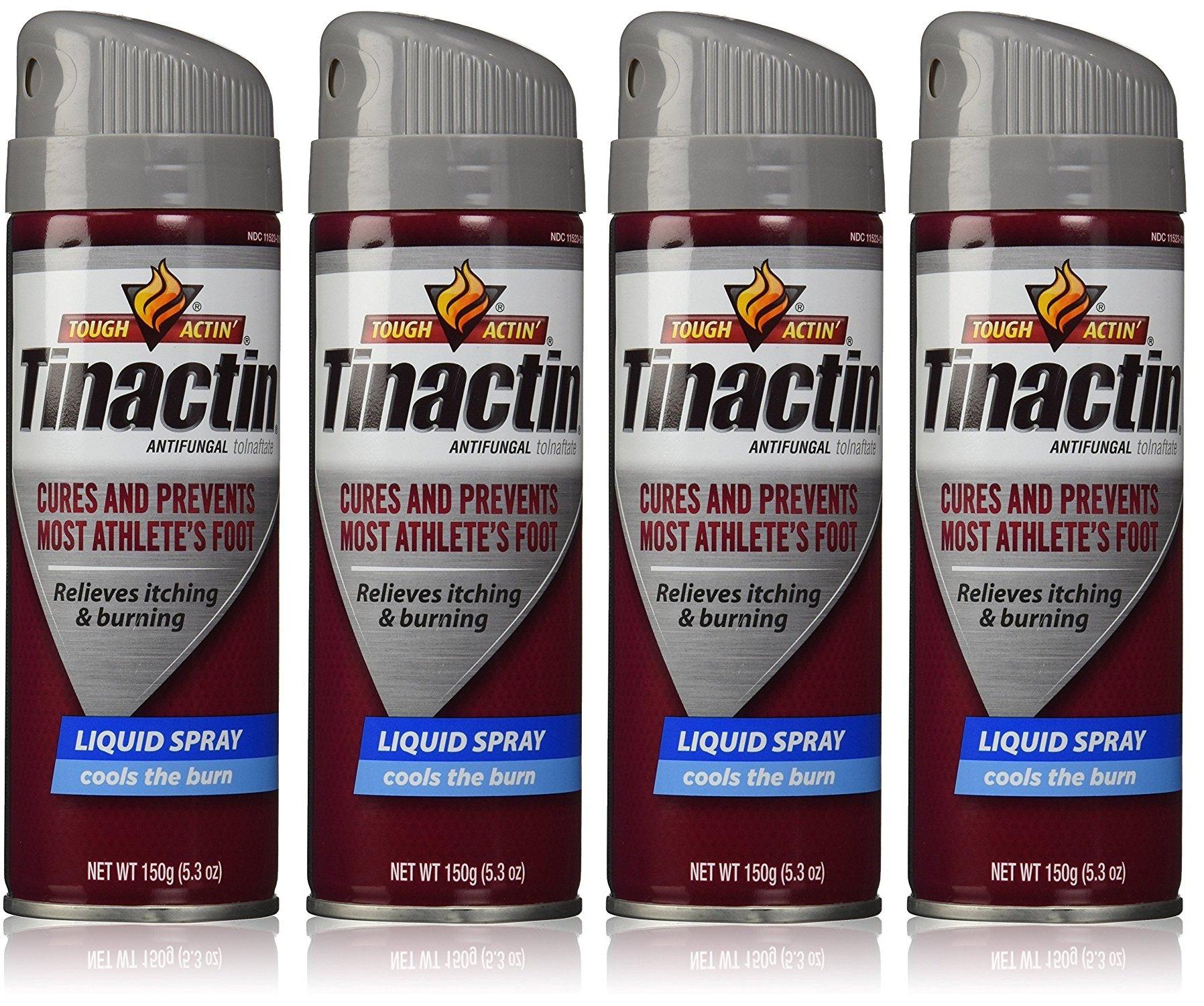Tinactin Antifungal pTNyIZ Liquid Spray 5.3 Oz (Pack of 4)