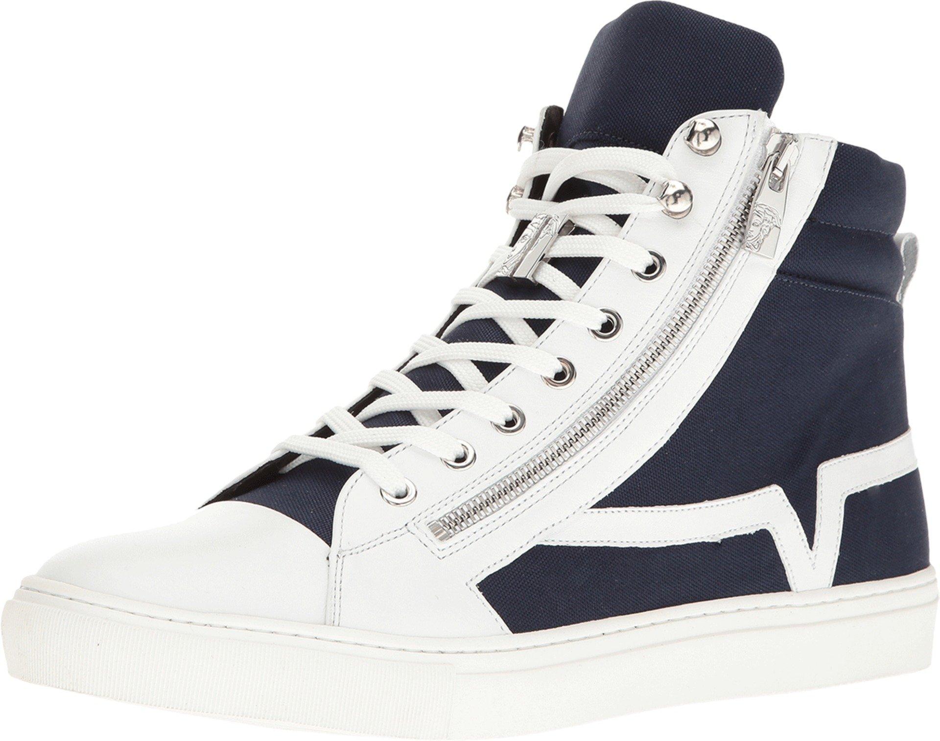 Versace Collection Men's V900383-VM00265-V146N Bianco/Blue/Nikel Oxford