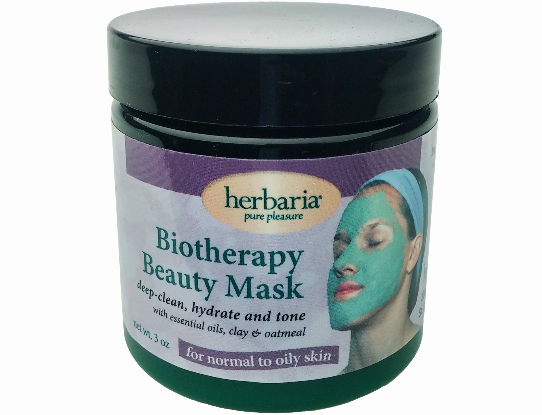 Herbaria Biotherapy Beauty Mask normal to oily all natural with essential oils 3 oz