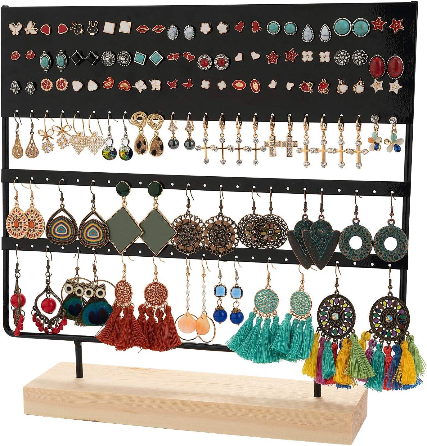 1PC Earrings Holder Ear Stud Stand Jewelry Display Rack Organizer Oval Heart New